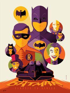 Batman © Tom Whalen - nice color scheme and layout