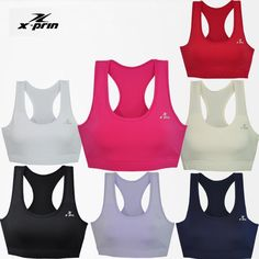 ESPRINT Women's Compression Workout Sports Bra Athletic Aerobic Fitness Top  #Xprin #BaseLayers