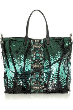 valentino sequin embellished tote - amazing color!