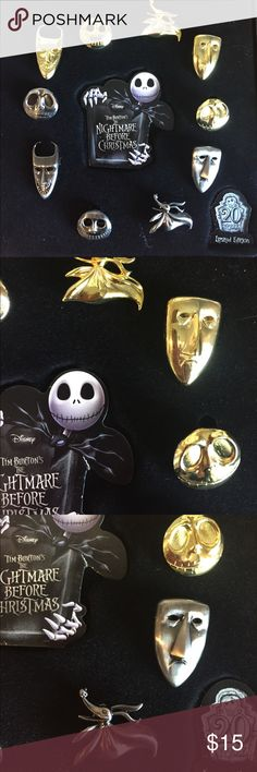 Nightmare pin set Limited edition from comic con 2014. NewAll Disney products are genuine. Disney Jewelry Brooches