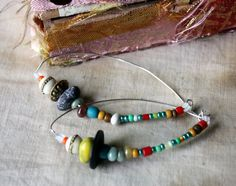 On the Beach Earrings with Artisan Ceramic Bead by LaTouchables