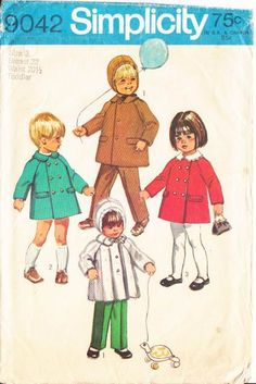 70s Toddler Coat Sewing Pattern