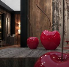 Ceramic Cherries by Bull & Stein