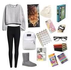 """""""Let's Study!!!"""" by sopluvesonedirection ❤ liked on Polyvore featuring H&M, Ted Baker, UGG Australia, LISKA, Kate Spade, Topshop, Pinetti, BIC, Paper Mate and Casetify"""