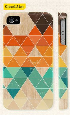 3D #iPhone 5 #Case  Fall Colors #Triangle #Geometric Wood by caselike, $22.00