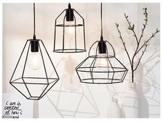 Extra pick of the week Week 45 Hanglamp van metaaldraad Interior Design Programs, Interior Design Companies, Interior Design Living Room, Room Lights, Hanging Lights, Hanging Lamps, Room Inspiration, Interior Inspiration, Loft Lampe