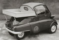 doyoulikevintage:BMW ISETTA WITH TINE PICKUP TRUCK
