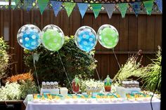 """Photo 1 of 10: a blue/green theme party for boys / Farewell Party """"Parting is Such (sugary) Sweet Sorrow"""" 