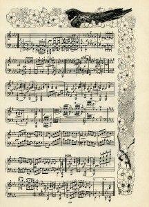 The Brownies Gavotte, vintage sheet music, S G Pratt, suite of brownie dances, owl bird flowers clip art