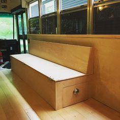 Folding couch coming along. Just needs a few finishing touches. Plywood Furniture, Outdoor Furniture, Outdoor Decor, Folding Couch, Wood Stone, Staircases, Van Life, Steel, Storage