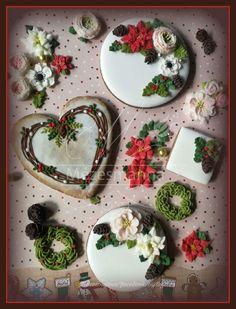 Sweet Cookies, Biscuit Cookies, Cake Cookies, Christmas Goodies, Christmas Treats, Cupcake Decorating Techniques, Fondant, Christmas Sugar Cookies, Cookie Frosting