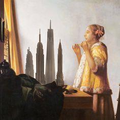 """""""NEW YORK GREY"""" BUILDING KIT Conjunto de 4 piezas automontables de metacrilato gris transparente. Altura máxima de 60 cm. Collages, Painting, See Through, Gray, Collagen, Painting Art, Paintings, Painted Canvas, Collage"""