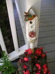 Spindle Bird Houses