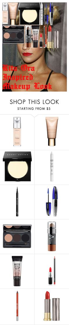 """""""Rita Ora Inspired Makeup Look"""" by oroartye-1 on Polyvore featuring beauty, Beautiful People, L'Oréal Paris, Clarins, Bobbi Brown Cosmetics, NYX, Rouge Bunny Rouge, Maybelline, MAC Cosmetics and Urban Decay"""