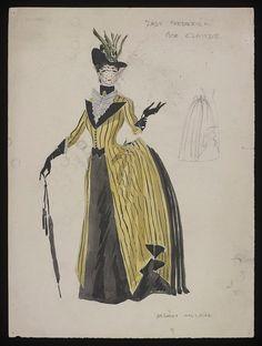 Diseño de vestuario por Anthony Holanda por Beatrice Kane en la producción de 1946 de Frederick Señora.