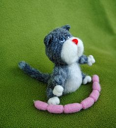 Artist needlefelted  OOAK Miniature collectible by manina1507