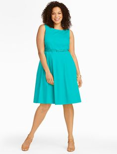 Talbots - Cotton Sateen Fit-And-Flare Dress | Dresses |
