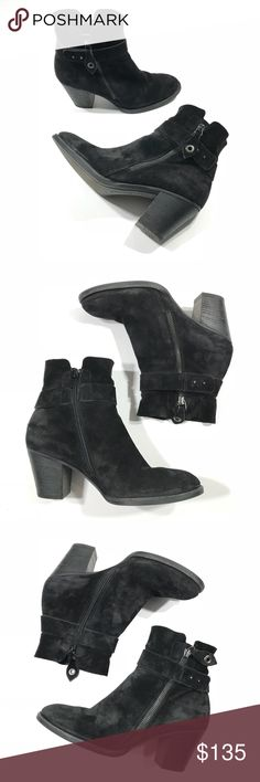 PAUL GREEN Dallas Burnished nubuck Booties Boots PAUL GREEN Dallas Black Burnished nubuck Leather Booties Boots US 7 UK 4.5  Preowned and gently worn. Let me know if you have any questions! Paul Green Shoes Ankle Boots & Booties