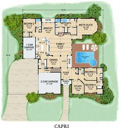 First Floor image of Capri House Plan
