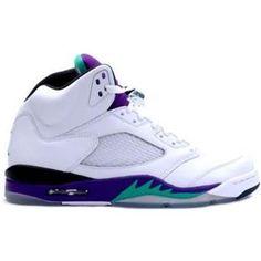 fc41da039870 Discount Air Jordan 5 Retro Grape White New Emerald-Grape Ice-Black (Women  Men Gs Girls) Clearance Sale