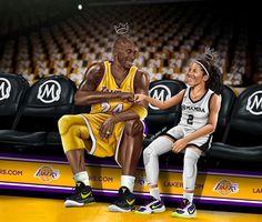 Dear Basketball, Basketball Pictures, Bryant Basketball, Basketball Stuff, Kobe Bryant Lakers, Daddy Daughter Photos, Kobe Bryant Daughters, Kobe Bryant Michael Jordan, Kobe Bryant Quotes