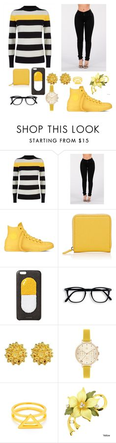 """Candles Burning Money"" by myalariee15 ❤ liked on Polyvore featuring Jaeger, Converse, Barneys New York, Chaos, Orla Kiely and Gorjana"