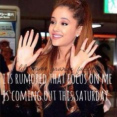 @agmyeverything so excited!! Ariana Grande Facts, Ariana Grande Dangerous Woman, Everything About You, Favorite Person, Role Models, Moonlight, My Idol, Love Her, Queen