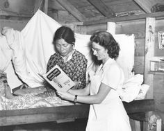 Alakan field RN and patient review manual about TB, 1950's. Alaska Natives had one of the highest incidences of TB.