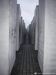 The gray stones of the Holocaust #Memorial, #Berlin. #Travel