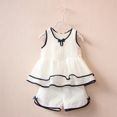 GL1032 2016/17 AW Trendy Girl's Fashion Vintage Embroidery Cotton Cami & Shorts Set