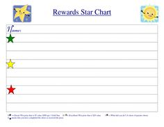 111 Best Printable Reward Charts Template Images On Pinterest