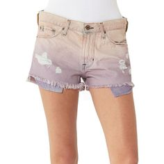 Big Star Cloud 9 Boyfriend Shorts ($88) ❤ liked on Polyvore featuring shorts, multicolor, destroyed boyfriend shorts, torn shorts, distressed shorts, colorful shorts and multi colored shorts