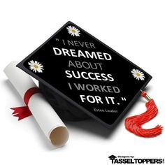 Dreamed About Success Grad Cap Tassel Topper – Tassel Toppers - Professionally Decorated Grad Caps