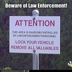 Random Theft by Cops - from Spokane's Manito Park!