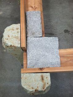 "dayoutlast: Kishio Suga ""Enpen Shitai [Supported Surrounding],"" 1987, Wood planks, stone, aluminum @ Blum & Poe"