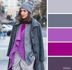 Fashion color idea | Perfect | Combination | Purple & Grey | Wheel