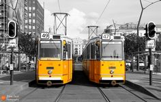 Old trams in Budapest by Dora  on 500px