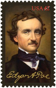 Edgar Allan Poe • as part of the USPS collection • by artist Michael J. Deas • January 16, 2009