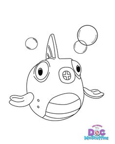 Doc McStuffins Fish - Free Printable Coloring Pages