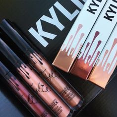 Kylie Mettalics Lip Gloss Bundle  Kylie Metallics Bundle get all three now! King K, Heir & Reign matte Creamy metallic glam! These are hard find sold out on line get them here now! Use ur posh credits! Ships now! Kylie Cosmetics Makeup Lip Balm & Gloss