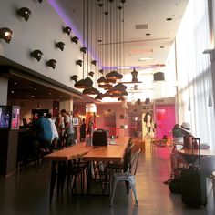Moxy Milan lobby design by APTO. -------  Stylish, on budget plus free wifi: every travelers' dream hotel #atthemoxy