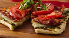 """Here's a twist on a BLT made on the grill, a fabulous fun summer recipe we created with the help of our fans to celebrate 1 million people """"liking"""" Pillsbury on Facebook!"""