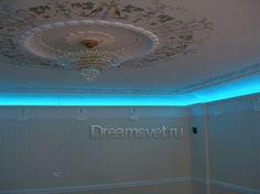 Светодиодное освещение потолка в коттедже.