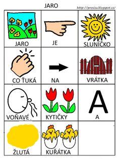 Pro Šíšu: Básničky i pro autíky Pictogram, Montessori, Activities For Kids, Playing Cards, Language, 1, Classroom, Education, Games