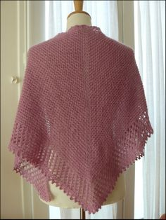 Ravelry: Mousseux pattern by Organdi Bidouille Knitting Paterns, Loom Knitting, Knitting Stitches, Knitting Designs, Knit Patterns, Knitted Shawls, Crochet Shawl, Crochet Yarn, Prayer Shawl Patterns