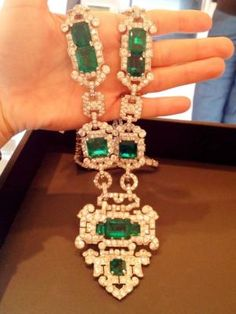 Art Deco emerald and diamond sautoir by Cartier, circa 1926 by tabitha