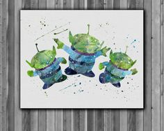 The Three Squeeze toy Aliens Poster Toy Story by digitalaquamarine