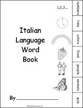 Italian Language Activities at EnchantedLearning.com