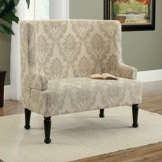 Sauder Barrister Lane Audrey Upholstered Bench