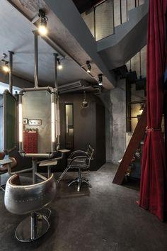 Renovation of Split-Level Hair Salon & Residential,© Hey! Cheese